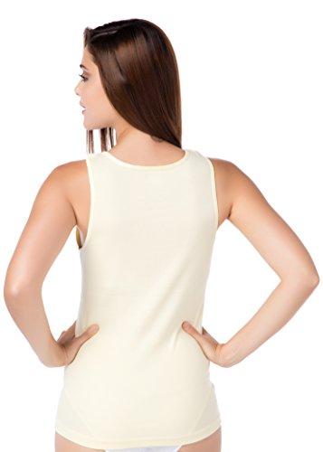 Ascella Shirt intima signora giallo taglia grossa basictop qualità stylenmore