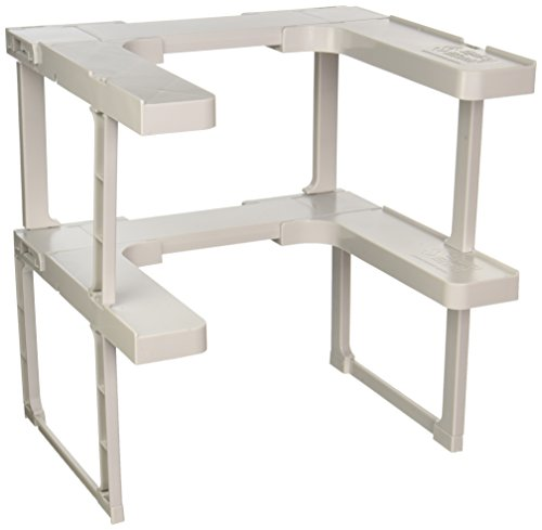 Spicy Shelf Patented Spice Rack and Stackable (Adjustable Side Shelf)