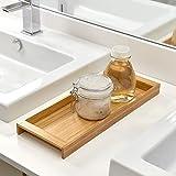 iDesign Formbu Wood Toilet Tank Top Storage Tray