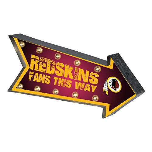 Washington Redskins NFL Team Logo Light Up Marquee Wall Sign (Redskins Washington Sign)