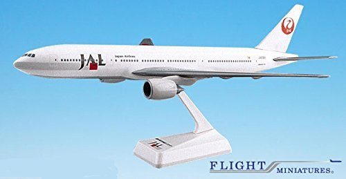 Japan Airlines (89-03) 777-200 Airplane Miniature Model Plastic Snap-Fit 1:200 Part# ABO-77720H-005