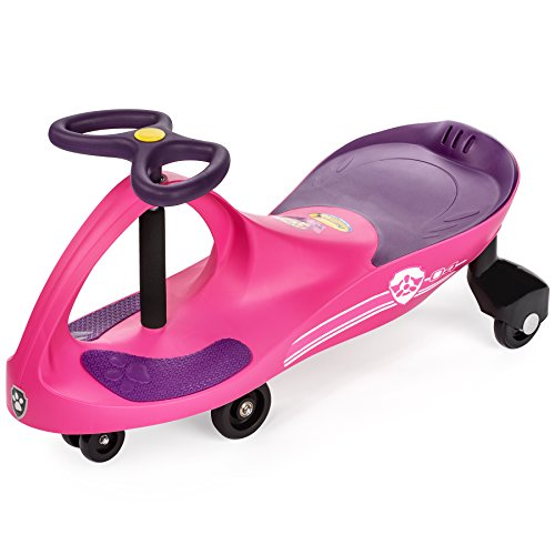 PAW Patrol - The Original PlasmaCar by PlaSmart Inc. - Skye  Pink, Ride On Toy, Ages 3 yrs and up, No batteries, gears, or pedals, Twist, turn, wiggle for endless fun