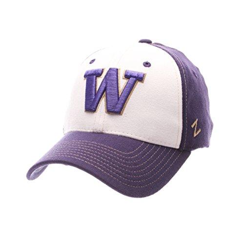 - NCAA Washington Huskies Adult Men Bleacher Z-Fit Hat,X-Large,White/Tc