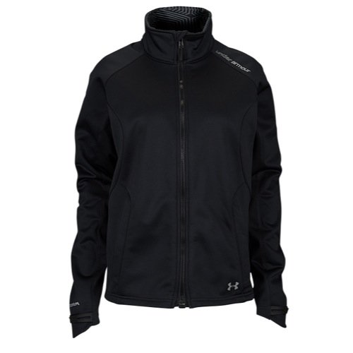 Under Armour Women's UA ColdGear Infrared Softershell Jacket, Black Steeple Gray, SM (US 4-6)