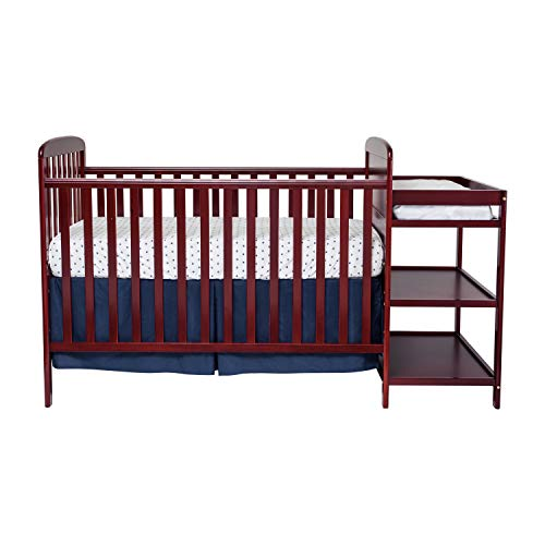 Suite Bebe Ramsey 3 in 1 Convertible Crib and Changer Cherry