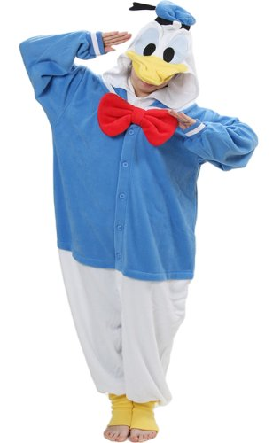Genuine Kigurumi Disney Donald Duck Costume Kigurumi Pajamas - Donald Duck Costume For Adults