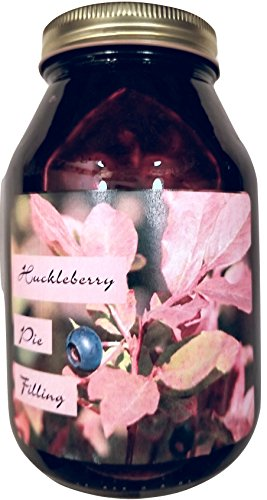 Huckleberry Pie Filling Montana Grown - 38 oz Real Fruit Grown & Hand Picked from Bounty Foods this is Vegan Friendly | Gluten Free | Non-GMO for Pies - Cobblers (Halloween Treats No Bake)