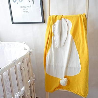 Mantas De Algodón Para Niños Siesta Sofá Dormitorio Aire Acondicionado Manta Manta De Bebé,El 110 * 130Cm_Oro: Amazon.es: Bebé
