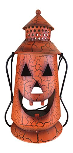 Halloween Pumpkin Rustic Lantern with Handle,