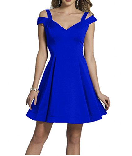 mia Braut Kurzarm Heimkehr Tanzenkleider La Festlichkleider Abendkleider Mini Blau Lila Royal Satin Ballkleider aus Festlichkleider dqfw5w1Sx