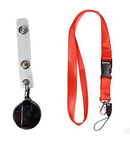 red-neck-lanyards-with-detachable-buckle-heavy-duty-retractable-badge-reel-with-belt-clip-for-id-bad