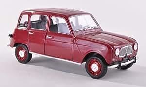 Renault 4, oscuro-rojo , 1962, Modelo de Auto, modello completo, WhiteBox 1:24
