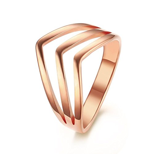 BBX-Gold-Plated-Stainless-Steel-3-Layers-Stackable-Chevron-Statement-Rings-for-WomenSize-5-8