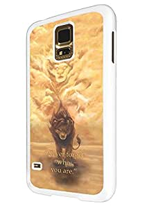 251 - The lion King Quote Never forget who you are Design For Samsung Galaxy S5 Mini Fashion Trend CASE Back COVER Plastic&Thin Metal