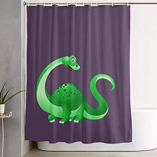 FOECBIR Dinosaur Cartoon PNG Clipart Image.png Shower Curtain with Hooks Polyester Fabric Bathroom Decor]()