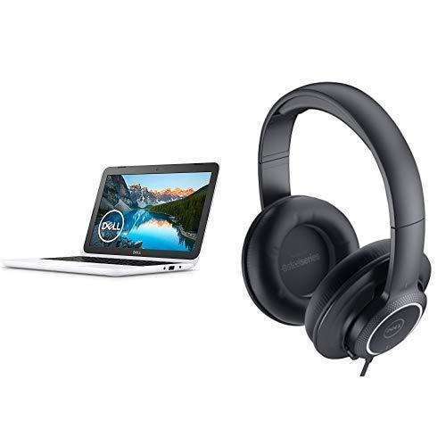 Dell ノートパソコン Inspiron 11 3180 AMD-A9 Windows10/11.6インチHD/4GB/128GB/eMMC/ホワイト/18Q12W + Dell Performance USB ヘッドセット DTS 7.1ch AE2 セット   B07QVJYYMQ