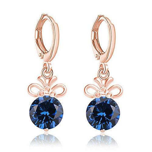 Endicot Hot Sale 1 Pair Multicolor Hoop Earrings 18k Gold Plated Round Bright CZ | Model ERRNGS - 3721 |