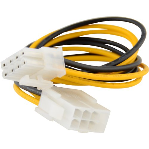 """8"""" 8-pin 12V Power Extension Cable Male to Female EPS P4 ATX"""