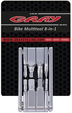 Gray Multitool 8-in-1 Pro Bike Tool Kit