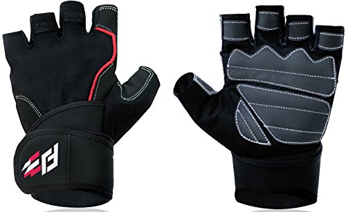 Fit jab weightlifting  gloves with wraps