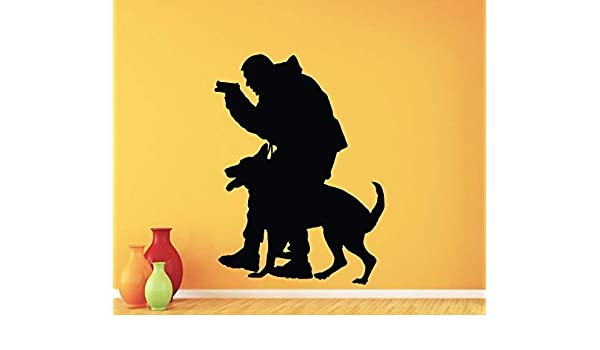YuanMinglu Policía - calcomanías de Pared para Perros Pegatinas de ...