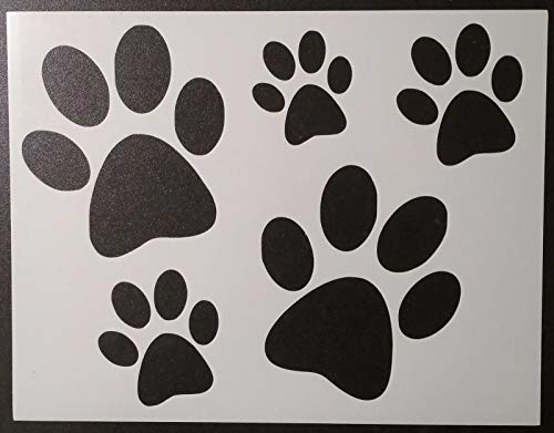 (OutletBestSelling Reusable Sturdy Dog Puppy Paw Foot Prints Feet Footprint 8.5