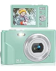 $48 » Digital Camera, Lecran FHD 1080P 36.0 Mega Pixels Vlogging Camera with 16X Digital Zoom, LCD Screen, Compact Portable Mini Cameras for Students, Teens, Kids (Green)