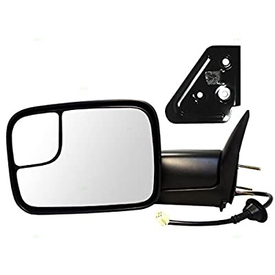 Drivers Power Tow 7x10 Flip Up Performance Upgrade Mirror Heated with Bracket Replacement for Dodge Pickup Truck 55076489AG