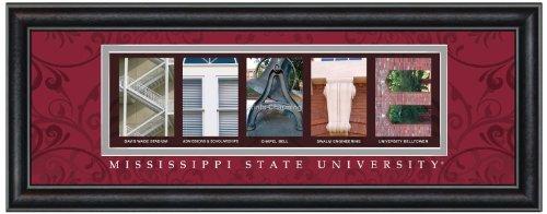 Prints Charming Letter Art Framed Print, Mississippi State-State, Bold Color - Malls Mississippi