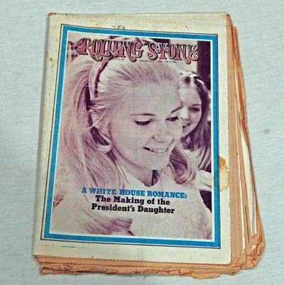 Rolling Stone Magazine Number 85-1971 - Newspaper Format - Graded 7.0 ACCEPTABLE condition By The Seller - Not Like New - Tricia Nixon - James Taylor - Atomic Rooster