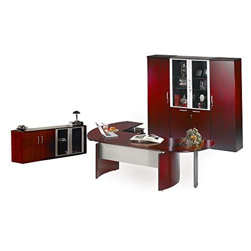 (Safco Products NT17CRY Napoli Series Suite #17 Desk, Sierra Cherry Veneer)