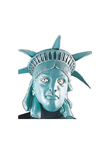 Forum Novelties Women's Miss Liberty Latex Mask, Green, One Size ()