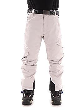 297fda0cb9a7 Brunotti Pantalon de ski pantalon de snowboard neige pantalon ceinture  Douglas II Blanc chaud, L