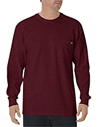 Men's Big & Tall Long-Sleeve Heavyweight Crew-Neck T-Shirt