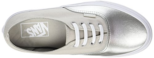 Silver Vans UA Canvas Ginnastica Authentic Donna Scarpe Basse da Decon Argento Metallic 6Pr6qpfxw