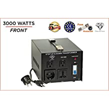 Dynastar Step Up & Step Down Voltage Converter and Transformer, 110-220 to 220-240 Volts; Heavy Duty, Extra Durable Lifetime Coil, 5-Year-Warranty, 3000 Watts