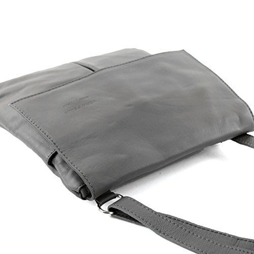 modamoda de - Made in Italy - Bolso cruzados para mujer gris gris