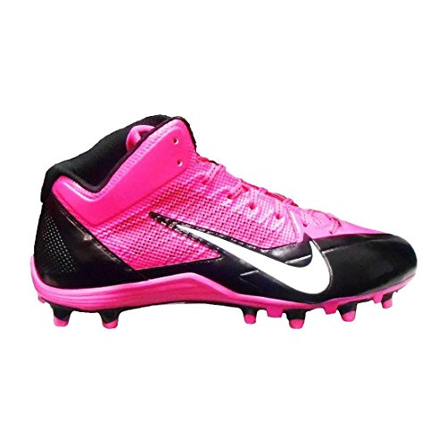 Nike Alpha Pro 3/4 TD Pink Breast Cancer Men's Football Cleats 11.5 ()