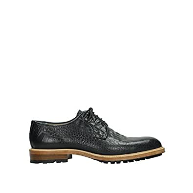 536aaa17b11 Wolky Comfort Lace up Shoes Turin - 90000 Black Croco Leather - 42.5