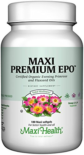 Maxi Health Premium EPO - Evening Primrose with Flax Seed Oil - with Omega-3-180 Softgels - Kosher by Maxi Health (Image #7)