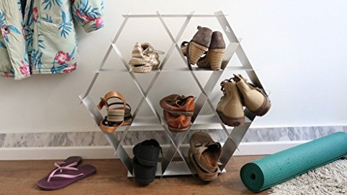 Ruche shelving unit- size Medium- Geometric hexagon shelf and shoe rack (Ikea Wine Wall Rack compare prices)