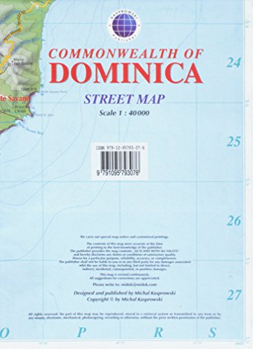 Dominica Street Map with Index 1:40,000
