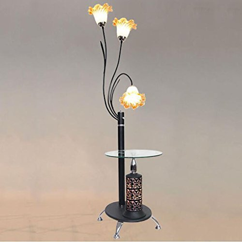Two Column Table Lamp - ALUS- Creative Floor Lamp Living Room Simple Modern Bedroom Eye Protection LED Vertical Lamp Creative Nordic Coffee Table Floor Lamp (Color : #2)