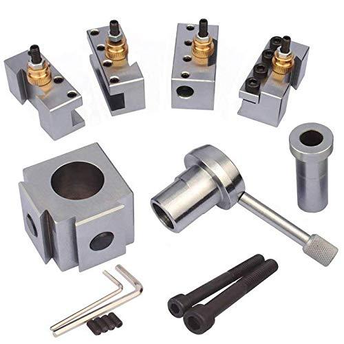 JWGJW 120018 Tooling Package Mini Lathe Quick Change Tool Post Holders Multifid Tool Holder (Steel)