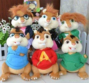 Toy Gift Alvin and The Chipmunks The Couple Plush Squirrel Chipmunk Erwin Simon Theodore 6 Styles Can Be -