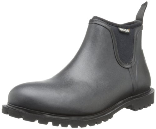 Bogs Men's Carson Low Waterproof Rain Boot, Black, 14 D(M) US