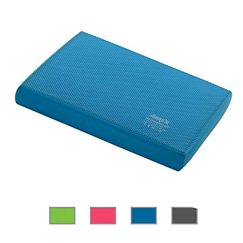 Airex Balance Pad Foam Balance Board Stability Cushion Exercise Trainer for Physical Therapy, Rehabilitation and Core Strength Training, Elite, Blue