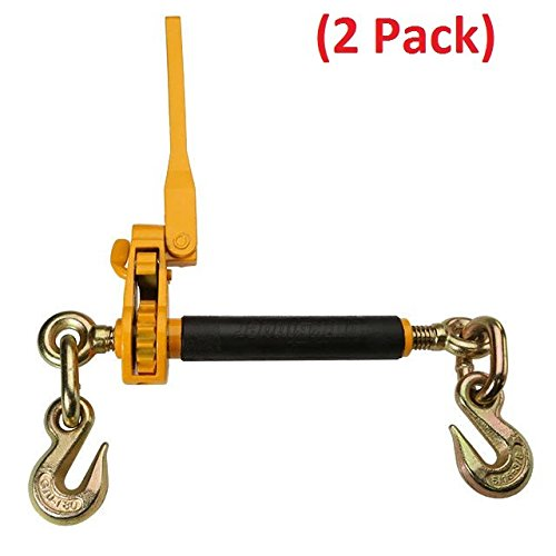 Mytee Products (2 Pack) 5/16 Peerless QuikBinder Plus Ratchet Binder 7,100# WLL Chain Tow H5125-0658 (Chain Ratchet)