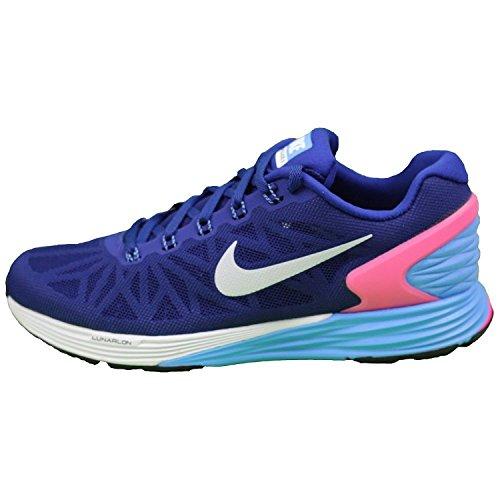 Nike Lunarglide 6, Women's Running Shoes Deep Royal Blue/White-Hyper Pink