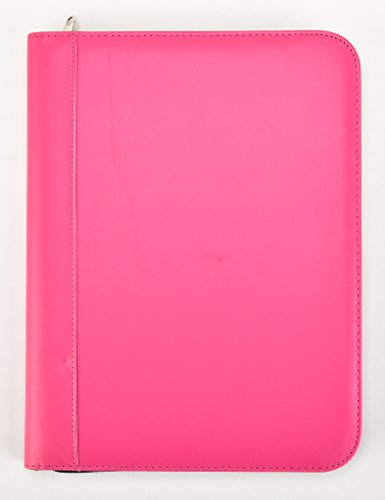 Arpan Pink Deluxe A4 Zipped Conference Folder With Calculator & Pad / Executive Portfolio (Conference Folder Zipped)